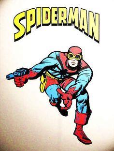 El primer diseño original de SpiderMan por Jack Kirby