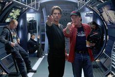 Tom Cruise(Ethan Hunt) & Director Brad Bird on set of Mission:Impossible-Ghost Tom Cruise, Mission Impossible 5, Brad Bird, Ethan Hunt, Ghost Protocol, Joker Heath, Cyberpunk Aesthetic, Paula Patton, Simon Pegg