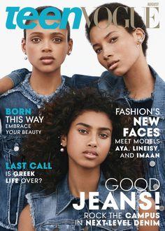 Aya Jones, Lineisy Montero and Imaan Hammam on the August cover of 'Teen Vogue.' Photo: Teen Vogue