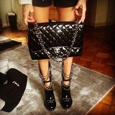 Chanel fabulousness Runway Booties n Maxie bag!! ❤❤❤