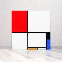"""Пит Мондриан. Композиция в красном, черном, синем и желтом. 1928. """"Нет ничего конкретнее, чем линия, цвет, плоскость"""" Piet Mondrian, Wooden Projects, Art Projects, Bauhaus Furniture, Constructivism, Catalog Design, Mid Century Art, Form, Street Art"""