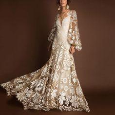 Western Wedding Dresses, Bohemian Wedding Dresses, Dream Wedding Dresses, Bridal Dresses, Wedding Gowns, Lace Wedding, Bohemian Lace Dress, Maxi Dresses, Wedding Reception