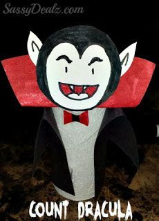 Count Dracula Toilet Paper Roll Craft from Sassy Dealz - 51 Toilet Paper Roll Crafts