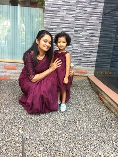 Whatsapp on 9496803123 to customise handwork sarees, dresses, blouses, cutwork sarees, Christian wedding sarees, lehengas, ethnic gowns, kids dresses.. Mom Daughter Matching Dresses, Mom And Baby Dresses, Girls Dresses, Pattu Saree Blouse Designs, Half Saree Designs, Saree Designs Party Wear, Cutwork Saree, Bridesmaid Saree, Mother Daughter Fashion