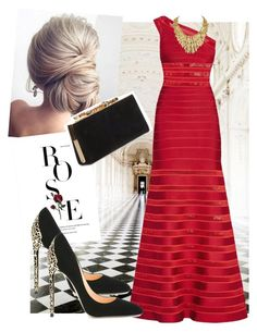 Red wine by vrbweb on Polyvore featuring polyvore, fashion, style, Hervé Léger, Cerasella Milano, Jimmy Choo, Oxford and clothing