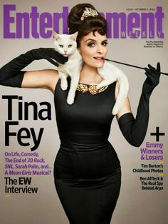 Tina Fey is a genius. #magazine #editorial #typography #photography