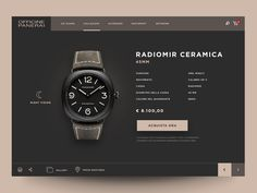 """Update Restiling """"Radiomir"""" designed by ★ Giulio Cuscito ★. Connect with them on Dribbble; the global community for designers and creative professionals. Web Design Trends, Web Design Gallery, Web Design Tips, Best Web Design, Web Design Inspiration, Dashboard Design, App Ui Design, Mobile App Design, Watch Websites"""