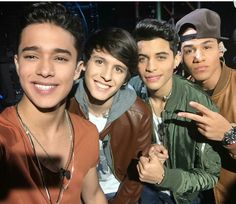four members of cnco ❤✨ In La Banda! Memes Cnco, Cnco Richard, With All My Heart, My Love, Just Pretend, Famous Singers, Founding Fathers, Future Boyfriend, Funny Me