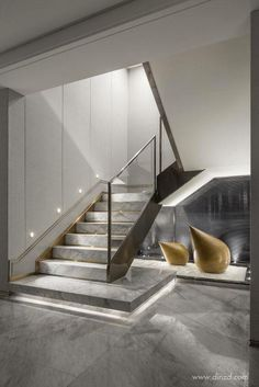 Basement stairs - There is no shortage of stairway design ideas to make your stairway a charming part of your home. From grand staircases and Home Stairs Design, Interior Staircase, Stairs Architecture, Railing Design, Dream Home Design, Modern House Design, Interior Architecture, Staircase Design Modern, Open Staircase