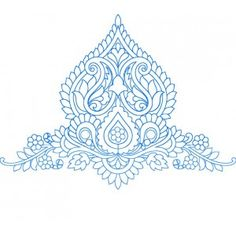 Blue work Designs clipart,embroideryshristi clipart,free clipart for embroidery designs,free clipart Indian Embroidery Designs, Hand Embroidery Design Patterns, Embroidery Motifs, Textile Patterns, Arabesque, Stencil Printing, Mandala Drawing, Stencil Designs, Fabric Painting