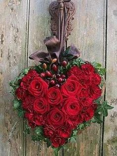 Valentines day-Heart shaped wreath
