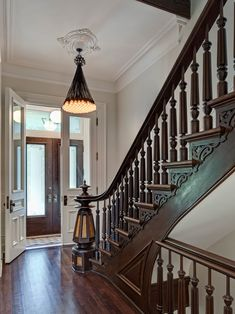 Victorian Restoration // a neutral pallet in the entry is very refreshing