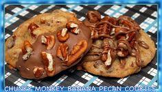 CHUNKY MONKEY BANANA PECAN COOKIES