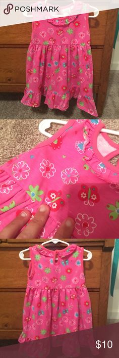 Luigi Kids pink dress, size 2t. Cute knit dress.  Size 2t; I would say this brand runs true to size/a tiny bit small.  Very good used condition/tiny bit of wash wear bc knit.  There is a tiny spot on front (see pics); it was there when I bought it brand new. Dresses Casual