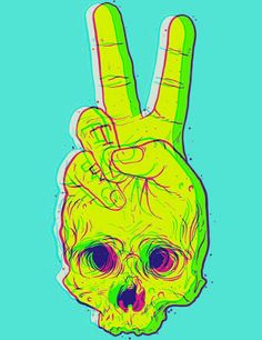 trippy art trippy skull psychedelic cute edit by dixieee normous