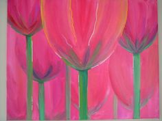 Floral Painting Tulips Springtime Mother's Day by TracyHallArt, $65.00
