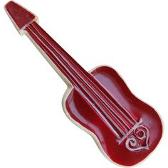 Vintage Figural Guitar Violin Stringed Musical Instrument Pin  1960s  - available from Cousins Antiques on Ruby Lane.