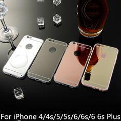 Top Qualität Spiegel Soft Clear Fällen Für Apple iphone 6/6 S 4,7 zoll/6 6 s Plus 5,5 zoll 5 5 s 4 4 s Handy Zurück Taschen fällen