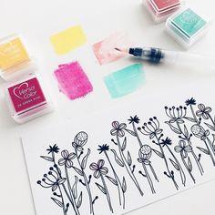 """Wie du deine VersaColor Stempelkissen für """"Watercolor"""" Projekte und zum Ausmalen deiner Stempelmotive einsetzen kannst jetzt aufm #papierprojekt Blog."""