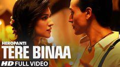 Heropanti Movie Song Tere Bina by Mustafa Zahid Bollywood Music Videos, Bollywood Movie Songs, Latest Bollywood Songs, Hindi Movie Song, Bollywood Funny, Film Song, Mp3 Song, New Latest Song, Latest Song Lyrics