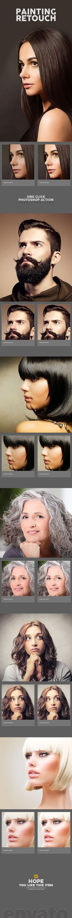 Painting Retouch #Photoshop Action - #Photo Effects #Actions Download here: https://graphicriver.net/item/painting-retouch-photoshop-action/19610948?ref=alena994