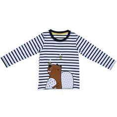 Long Sleeve Beaver Cartoon Shirt | Lollabuy