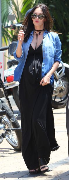 Megan Fox Tops Her Latest Maternity Ensemble with a Hot-Right-Now Lariat Choker—Get the Look from InStyle.com
