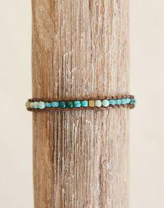 Stone + Crystal Bracelet - River