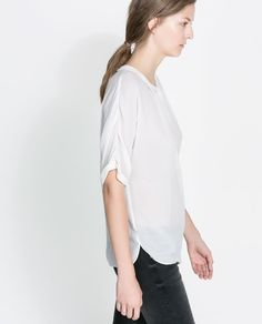 BLOUSE WITH PETER PAN COLLAR from Zara