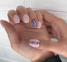 """If you're unfamiliar with nail trends and you hear the words """"coffin nails,"""" what comes to mind? It's not nails with coffins drawn on them. It's long nails with a square tip, and the look has. New Year's Nails, Hair And Nails, Nude Nails, Acrylic Nails, Gradient Nails, Pink Gel Nails, Sparkle Nails, Fancy Nails, Matte Nails"""