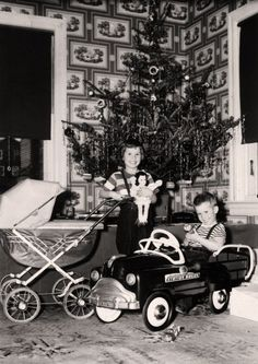 back in the 50's   a few presents and we were so thankful...now so commercilized, in hock through the next year and is it appreciated ?  or expected by our children. However its not their fault its ours !!