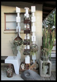 Repurposed planters by Vickie Perez, Rancho Reubidoux