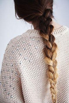 Long ombre braid.