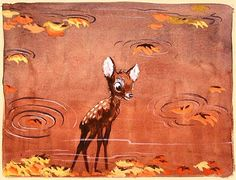 Bambi - concept art by David Hall - The Art of Disney