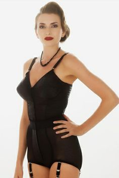 d93ce437b1 What Katie Did Kate Black Longline Cone Bra L6101 Vintage Underwear
