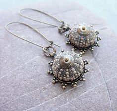 Sea Urchin earings--Normally I don't like shells in earrings but these are elegant and lovely.