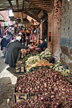 Veg Alley, Marrakesh, Morroco | Marion Galt, Fine Art Print