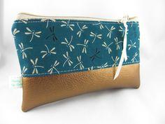 Taschenorganizer - Täschchen the dream mit Kunstleder in gold - ein Designerstück von prettybyreni bei DaWanda