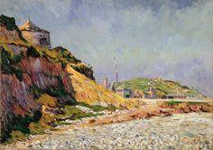 Paul Signac - Port-en-Bessin, The Beach, 1884, oil on canvas