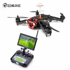 Eachine Racer 250 FPV Drone w/ Eachine I6 2.4G 6CH Transmitter 7 Inch 32CH Monitor HD Camera RTF