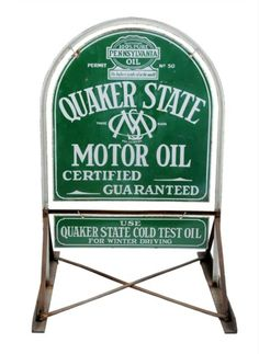 1000 images about petroliana signs gas pumps on for Quaker state motor oil history