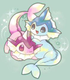 Vaporeon Pokemon Pins, Pokemon Images, Pokemon Fan Art, Pokemon Pictures, Pokemon Stuff, Cute Animal Drawings, Kawaii Drawings, Cute Drawings, Pokemon Eeveelutions