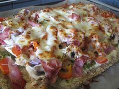 Fitnessnora - Hawaiian Pizza, Nom Nom, Food And Drink, Low Carb, Mozzarella, Baking, Healthy, Recipes, Decor