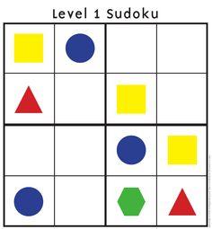 Kindergarten Sudoku Puzzles-love!