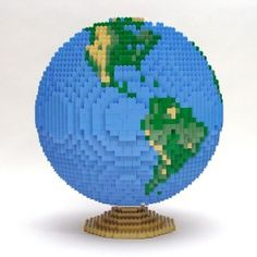 #LEGO Earth. Happy Earth Day (by Nathan Sawaya)