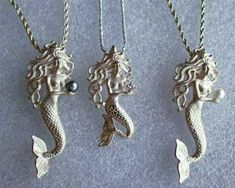 mermaid necklaces (: