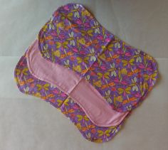 Burp Cloth. Perfect size. Very absorbent. Set of 3 Girl pattern Dragonflies Pink & Purple