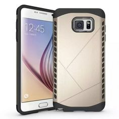 Dual Layer Hybrid Shockproof Case Cover for Samsung Galaxy Note 5 - Gold