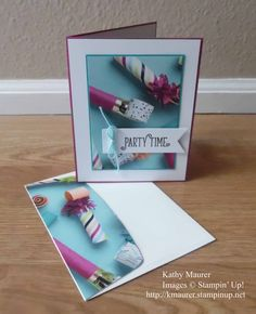 Birthday Card made with Stampin' Up!'s Picture Perfect Party Designer Series Paper and the Happy Birthday Gorgeous Stamp Set. For details, go to my Wednesday, January 10, 2018, blog at http://www.stampinup.net/blog/2130686/entry/picture_perfect_party_birthday_card