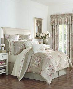Eleanor Floral Comforter Set by Royal Court, Size: Queen Full Comforter Sets, Floral Comforter, Ruffle Bedding, Duvet Cover Sets, Bedding Sets, Chenille Bedspread, Clean Bed, Royal Court, Bed Sizes